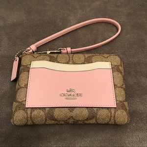 Signature Monogramed Coach Wristlet